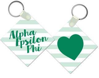 Alpha Epsilon Phi Striped Mascot Keychain