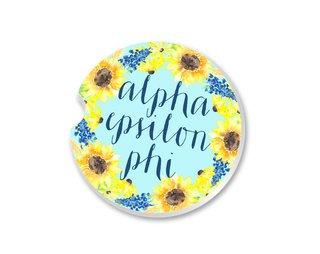 Alpha Epsilon Phi Sunflower Car Coaster