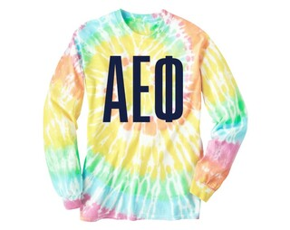 Alpha Epsilon Phi Tie Dye Long Sleeve