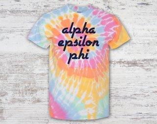 Alpha Epsilon Phi Tie Dye Tee
