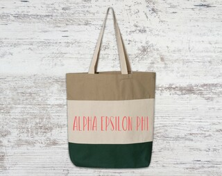 Alpha Epsilon Phi Tri Color Tote Bag
