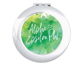 Alpha Epsilon Phi Watercolor Script Compact