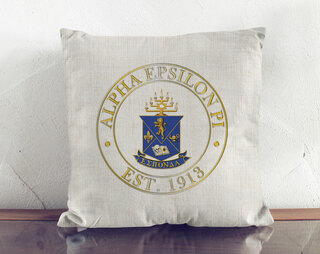 Alpha Epsilon Pi Crest Linen Pillow