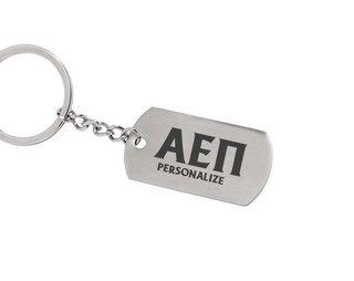 Alpha Epsilon Pi Dog Tag Style Custom Keychain