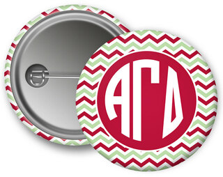 Alpha Gamma Delta Chevron Monogram Button