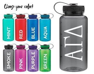 Alpha Gamma Delta Classic Letters Water Bottle