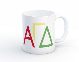 Alpha Gamma Delta Letters Coffee Mug