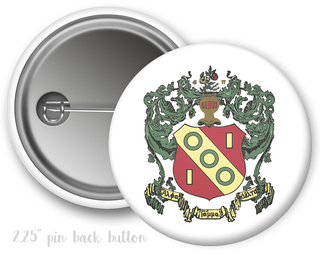 Alpha Gamma Delta Color Crest - Shield Button