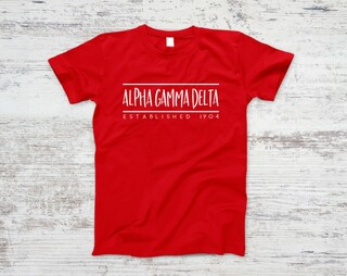 Alpha Gamma Delta Established Tee
