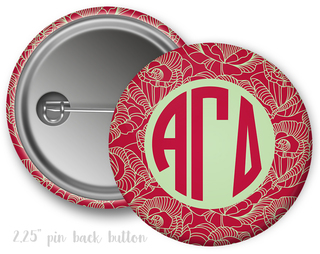 Alpha Gamma Delta Floral Button