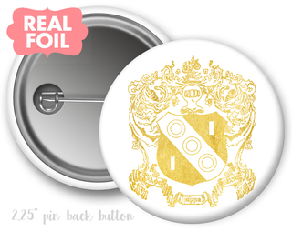 Alpha Gamma Delta Foil Crest - Shield Button