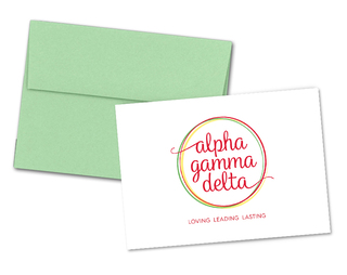 Alpha Gamma Delta Logo Notecards(6)