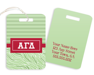 Alpha Gamma Delta Geometric Luggage Tag