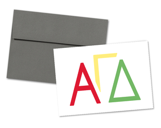 Alpha Gamma Delta Letters Notecards(6)