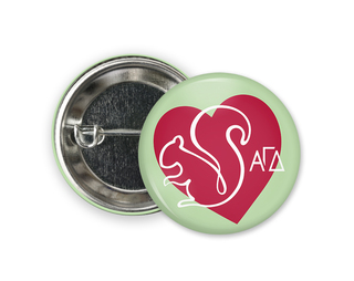 Alpha Gamma Delta Heart Mascot Button