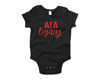 Alpha Gamma Delta Legacy Baby Outfit Onesie