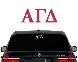 Alpha Gamma Delta Letters Decal