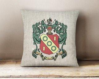 Alpha Gamma Delta Linen Crest - Shield Pillow