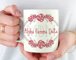Alpha Gamma Delta Mom Floral Mug