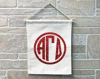 Alpha Gamma Delta Monogram Banner