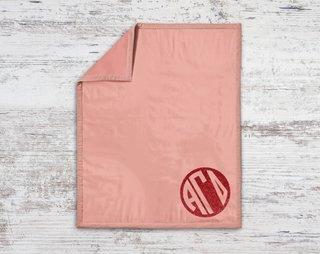 Alpha Gamma Delta Monogram Blanket