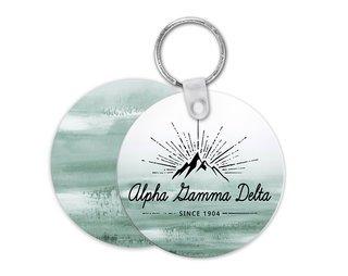 Alpha Gamma Delta Mountain Key Chain