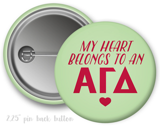 Alpha Gamma Delta My Heart Belongs to a Button