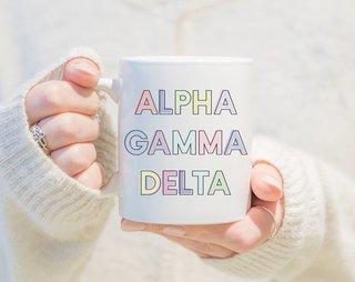 Alpha Gamma Delta Pastel Mug