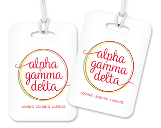 Alpha Gamma Delta Logo Luggage Tag