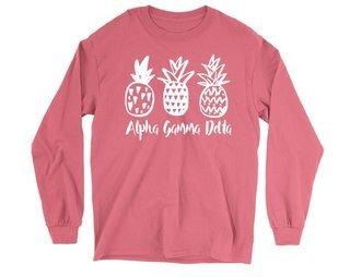 Alpha Gamma Delta Pineapple Long Sleeve