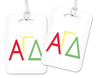 Alpha Gamma Delta Letters Luggage Tag