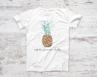 Alpha Gamma Delta Pineapple Script Tee