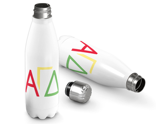 Alpha Gamma Delta Letters Steel Water Bottle