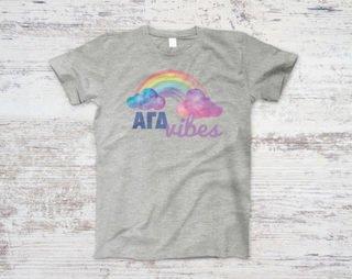 Alpha Gamma Delta Rainbow Vibes Tee