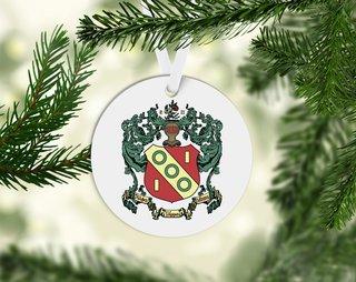 Alpha Gamma Delta Round Acrylic Crest - Shield Ornament