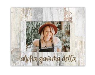 Alpha Gamma Delta Rustic Picture Frame