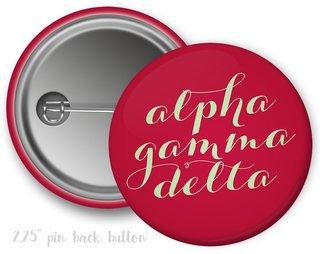 Alpha Gamma Delta Script Button