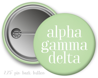 Alpha Gamma Delta Simple Text Button