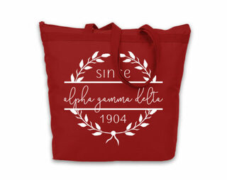 Alpha Gamma Delta Since Established Tote bag