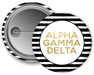 Alpha Gamma Delta Striped Button