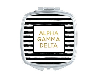 Alpha Gamma Delta Striped Compact