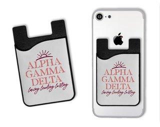 Alpha Gamma Delta Sun Card Caddy