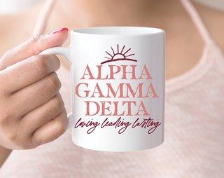 Alpha Gamma Delta Sun Mug