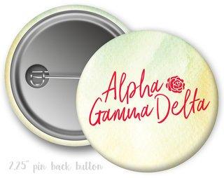 Alpha Gamma Delta Watercolor Script Button