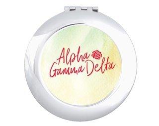 Alpha Gamma Delta Watercolor Script Compact