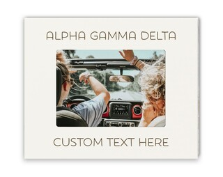 Alpha Gamma Delta Whitewash Picture Frame