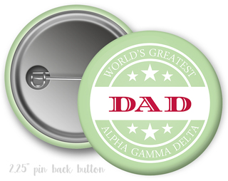 Alpha Gamma Delta World's Greatest Dad Button