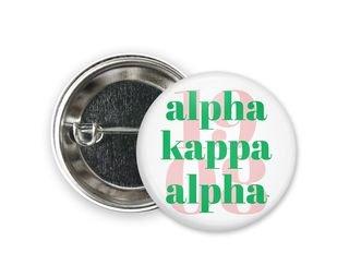 Alpha Kappa Alpha 1908 Button