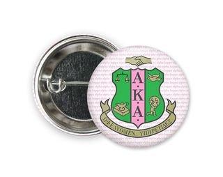 Alpha Kappa Alpha Crest Button