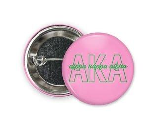 Alpha Kappa Alpha Letters Script Button